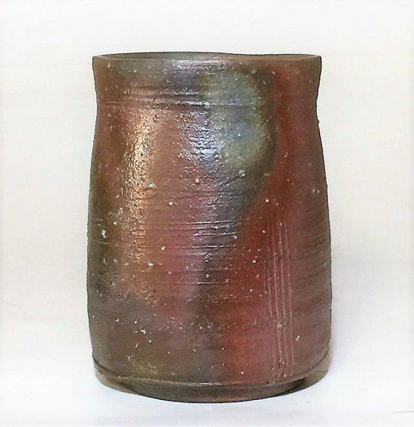 画像1: 備前焼 筒湯呑 (1)